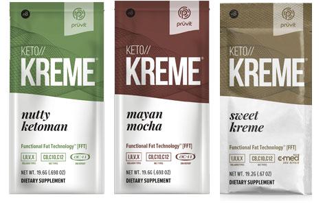 Keto Kreme Flavors: Nutty KetoMan - Mayan Mocha, Sweet Kreme